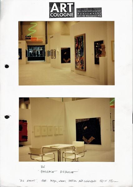 art collogne/1992/Galerie Doebele | Klaus Fabricius | Artist Künstler | Information