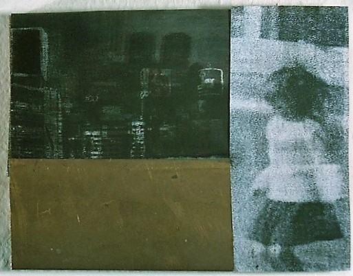 Aussen Leben/1996/Fotografie Fotokopie Mesing auf Holz/16,5x21cm | Klaus Fabricius | Artist Künstler | Information