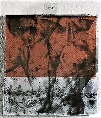 Aussenleben/1996/Fotokopie Blei Wachs auf Holz/16x16cm | Klaus Fabricius | Artist Künstler | Information