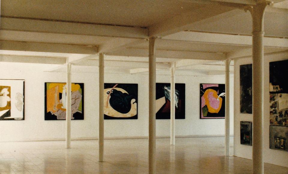 Ausstellungsansicht Nürtingen/1987/Galerie in der Fabrik | Klaus Fabricius | Artist Künstler | Information
