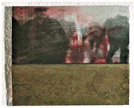 Bloody Sunday/1996/Fotokopie Folie Wassserfarbe Messing auf Holz/20 24cm | Klaus Fabricius | Artist Künstler | Information