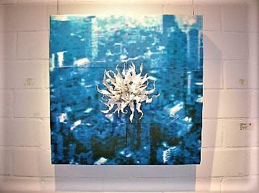 Brandsataette/2005/Transferprint auf Leinwand/60x60cm [Smlg. Regierungspräsdium Stuttgart] | Klaus Fabricius | Artist Künstler | Information