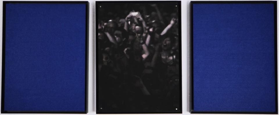 Choreografie des Augenblicks/2019/Triptychon/ Fotografie und Filz/40x100 cm | Klaus Fabricius | Artist Künstler | Information