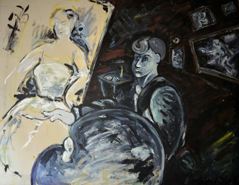 Das Aetlier/1984/Acrylfarbe auf Leinwand/100x130cm | Klaus Fabricius | Artist Künstler | Information