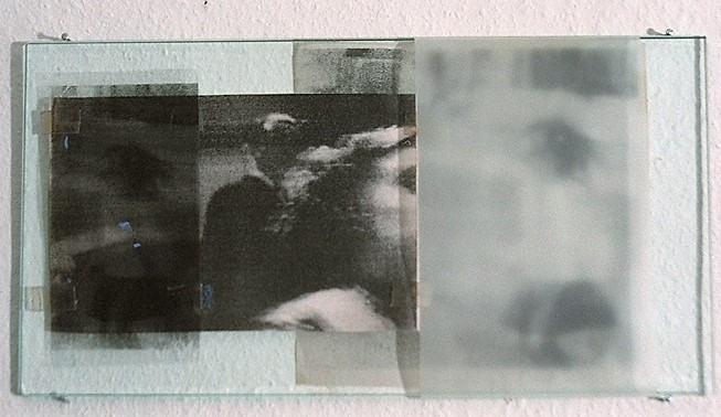 Das Ende der Kindheit/1996/Fotokopien Folien auf Glas/18x35cm | Klaus Fabricius | Artist Künstler | Information