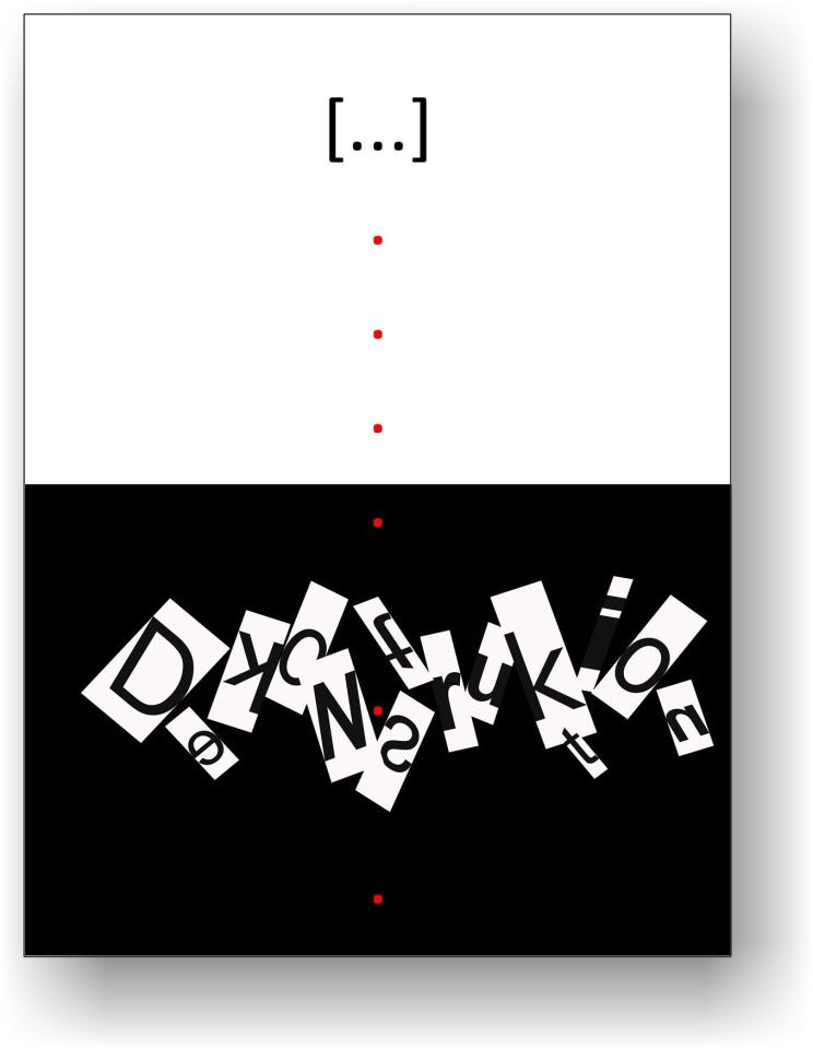 Dekonstruktion/Plakatentwurf für zur Bewerbung zum Thema Prognose [Arbeitstitel] des Württembergischen Kunstvernein 2021 | Klaus Fabricius | Artist Künstler | Information
