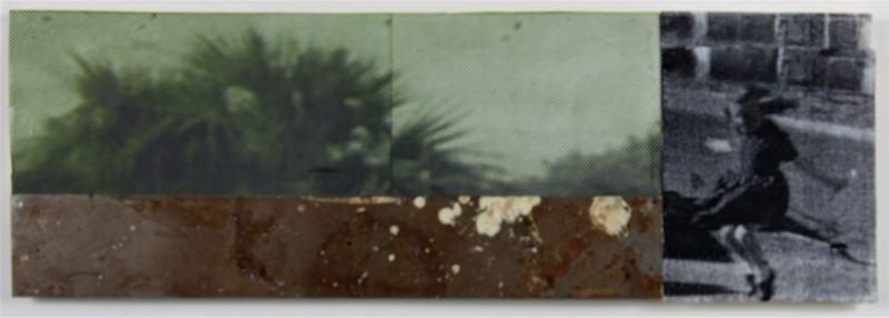 ...eins zwei drei.../1997/Collage Metall Papier/16x28cm | Klaus Fabricius | Artist Künstler | Information