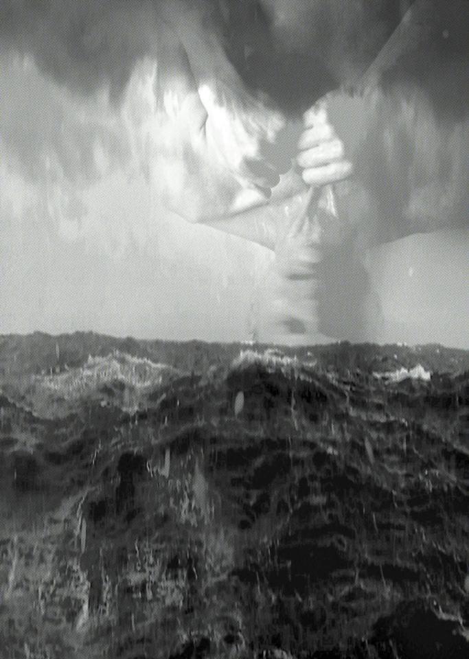 ... ertrunken im ICH./2021/Digital Foto Collage, Pigmentdruck auf Papier/58x40cm | Klaus Fabricius | Artist Künstler | Information