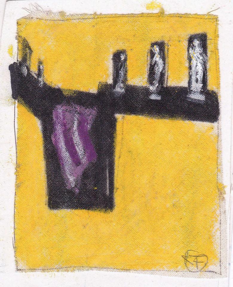Figuren Studie / {3]1988/Wachs Bleistift/12x10cm | Klaus Fabricius | Artist Künstler | Information