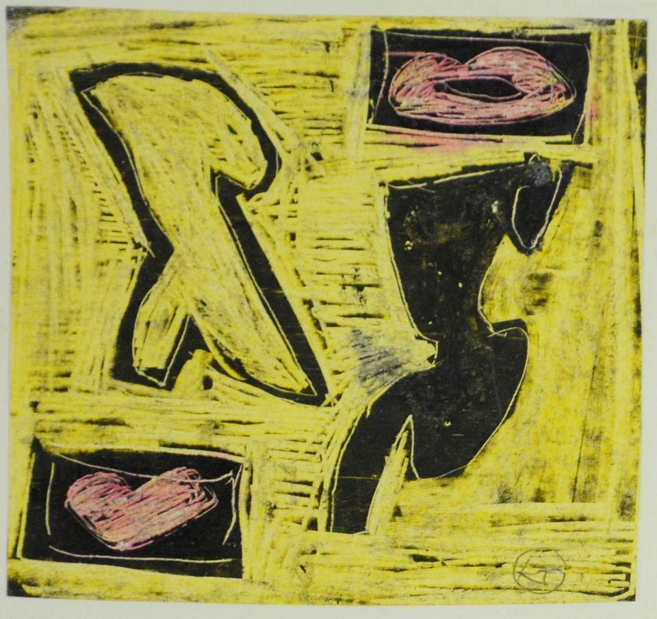 Figuren Studie II [zum Bild 110x110cm/priv. Besitz] /1988/Wachs/12x12cm | Klaus Fabricius | Artist Künstler | Information