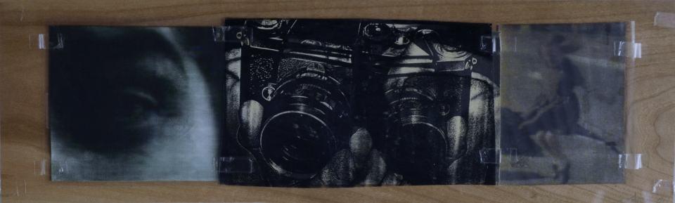 Focus/1998/Fotokopie/BJ-Druck,Pc-Folie auf Holz/17x58cm | Klaus Fabricius | Artist Künstler | Information