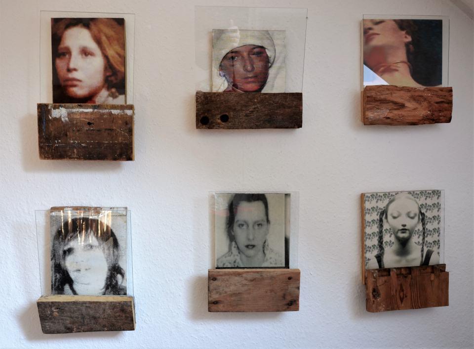 Frauenportrait Serie/1998/Fotografie Holz Glas/ unterschiedliche Formate ca. 25x 29x10cm | Klaus Fabricius | Artist Künstler | Information