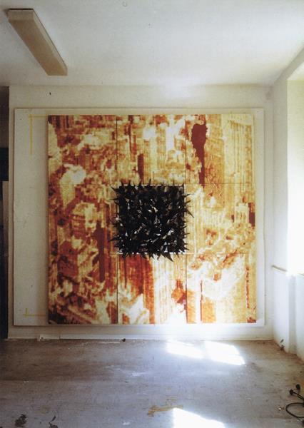 Gadda-Da-Vida I/1998/ Fotografie Print Collage und Blei/240 x 240 cm | Klaus Fabricius | Artist Künstler | Information