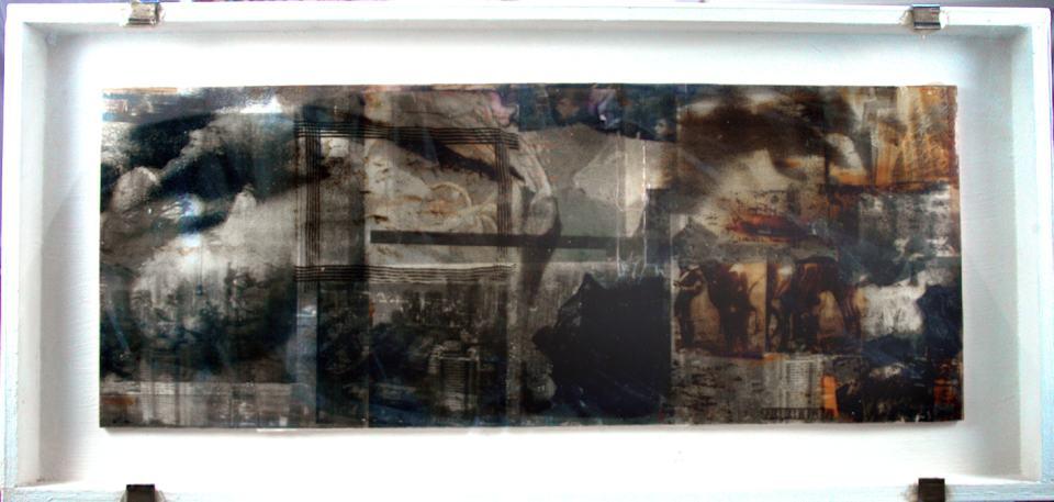Hundstage/1988Collage/Fotokopien Papier Folien/85x35cm | Klaus Fabricius | Artist Künstler | Information