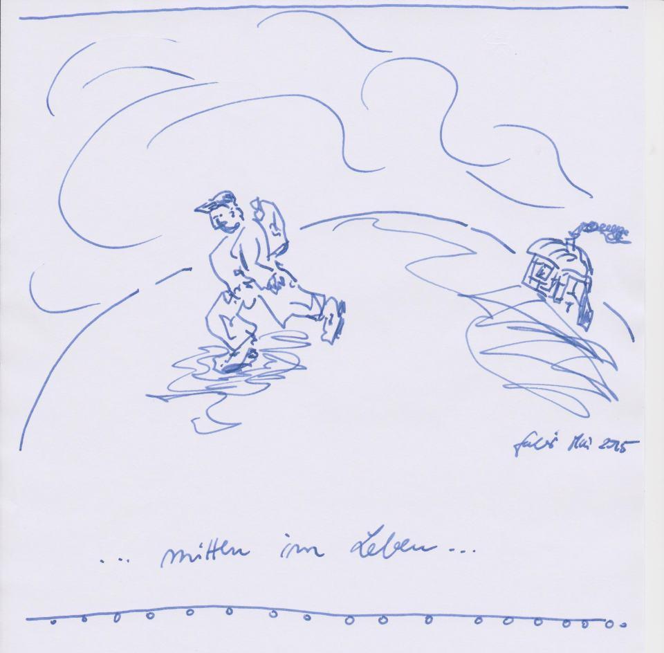Ich/2015/Tinten Zeichnung/15x15cm | Klaus Fabricius | Artist Künstler | Information