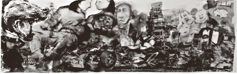 In Verlust der Gegenwart/2017/Collage/36x110cm | Klaus Fabricius | Artist Künstler | Information