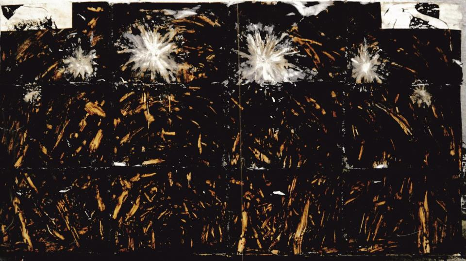 Jenseits des Lichts/1994/Aspahltlack auf Karton über PU Schaum auf Leinwand/200x230x26 | Klaus Fabricius | Artist Künstler | Information