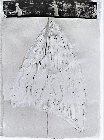 Kleine Kathedrale/1997/Acrylfarbe auf papier über PUschaum Fotokopien/28x18cm | Klaus Fabricius | Artist Künstler | Information