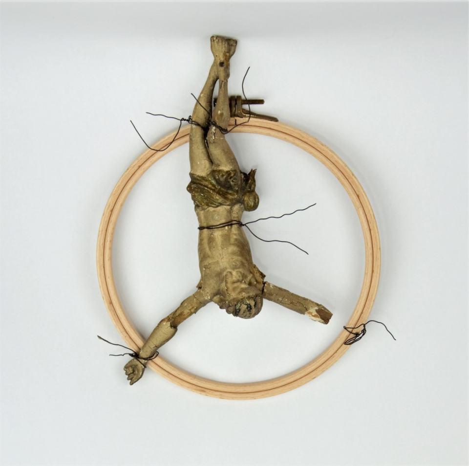 Kreuzigung/2017/Collage/28cm | Klaus Fabricius | Artist Künstler | Information