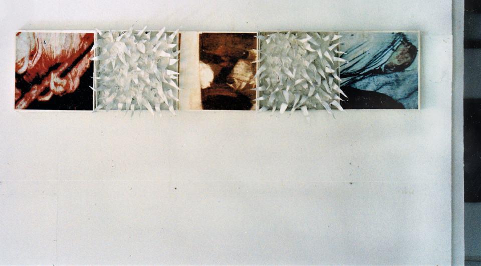 Quersumme 45 [oder Das vermächnis der Heuschrecken] 1997/Fotografie Collage Print gewißtes Blei/20x200cm | Klaus Fabricius | Artist Künstler | Information