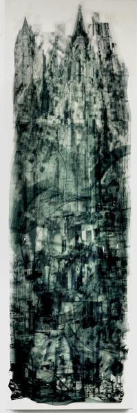 Skyscraaper/2018/Folien Collage auf Holz/40x120cm | Klaus Fabricius | Artist Künstler | Information