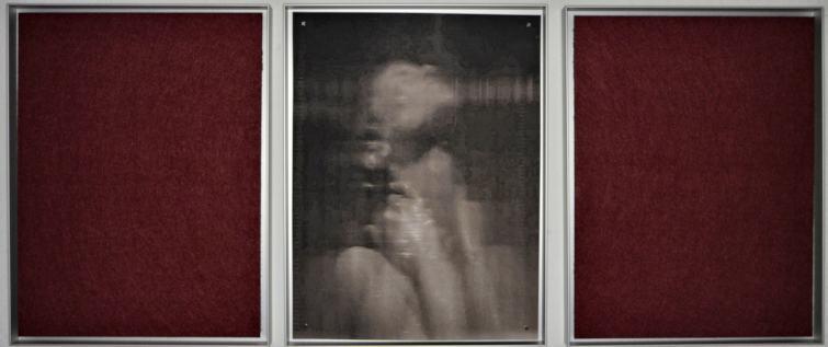 Szenische Rekonstruktion II/Triptychon/2019/Fotografie/Filz/40x100cm | Klaus Fabricius | Artist Künstler | Information