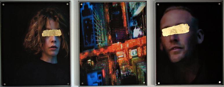 Time Line I/Triptychon/2018/ Fotografie/TV Capture Schlagmetall/50x130cm | Klaus Fabricius | Artist Künstler | Information