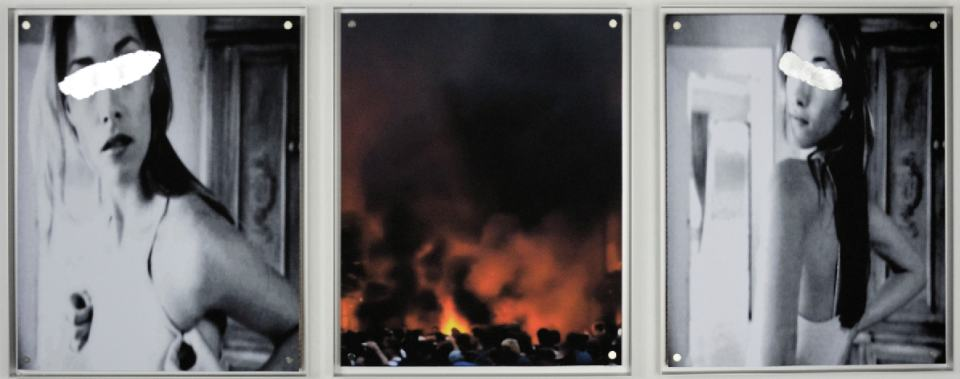 Time Line II/Triptychon/2018/ Fotografie/TV Capture Schlagmetall/50x130cm | Klaus Fabricius | Artist Künstler | Information