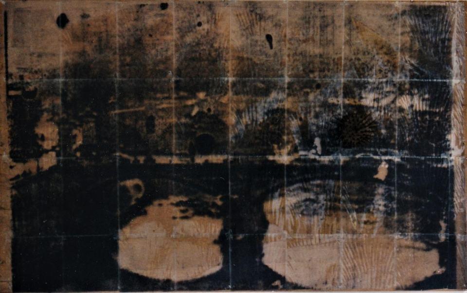 Vedute/1997/Fotografie Captutre OHFolien Flachsakamm auf Holz/120 x 150 cm | Klaus Fabricius | Artist Künstler | Information