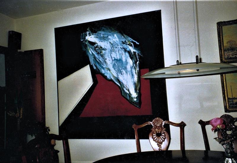 Verdampfung/1988/pigmentierte Acrylfarben Champanger-Kreide getuscht/150x140cm/ in privatem Besitz Paderborn | Klaus Fabricius | Artist Künstler | Information
