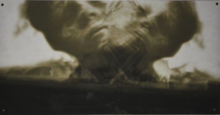Verquer II/2019/Fotografie/TV Capture Montage/Leinwand/40x80cm | Klaus Fabricius | Artist Künstler | Information