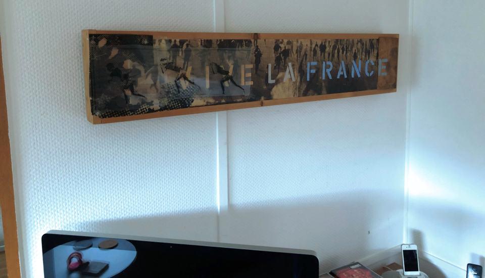 Vive La France/1999/Fotokopien Folien Collage/18x60cm   Klaus Fabricius   Artist Künstler   Information