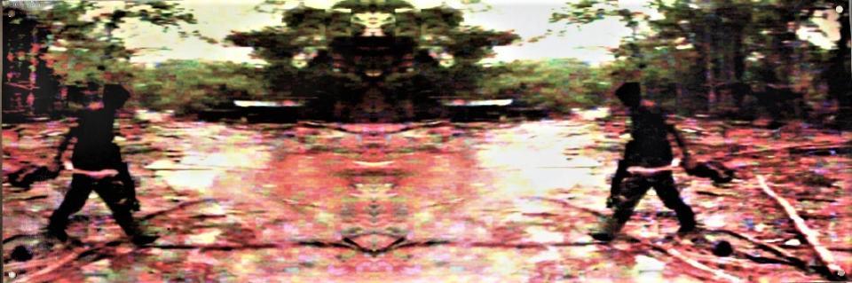 Würgemale der Romantik/2019[1997]/Fotografie Transferprint auf Leinwand/40x120cm | Klaus Fabricius | Artist Künstler | Information